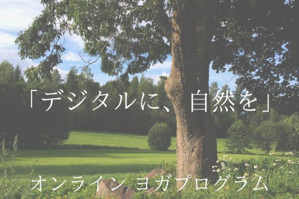 企業向けオンライン  オフィスヨガ プログララム 「デジタルに、自然を。」